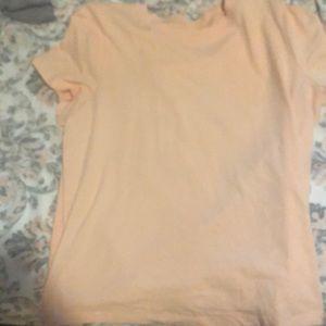 Peach crew neck t-shirt
